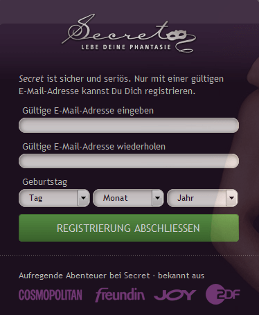 Datenabfrage Secret.de